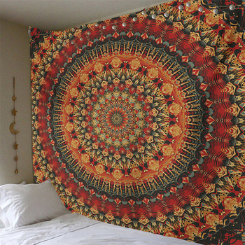 Mandala India Style Tapestry Wall Hangings Polyestry Covers Hippie Wall Cloth Tapestry Boho Beach Towel Art Bedroom Decor Carpet boho style pattern tapestry