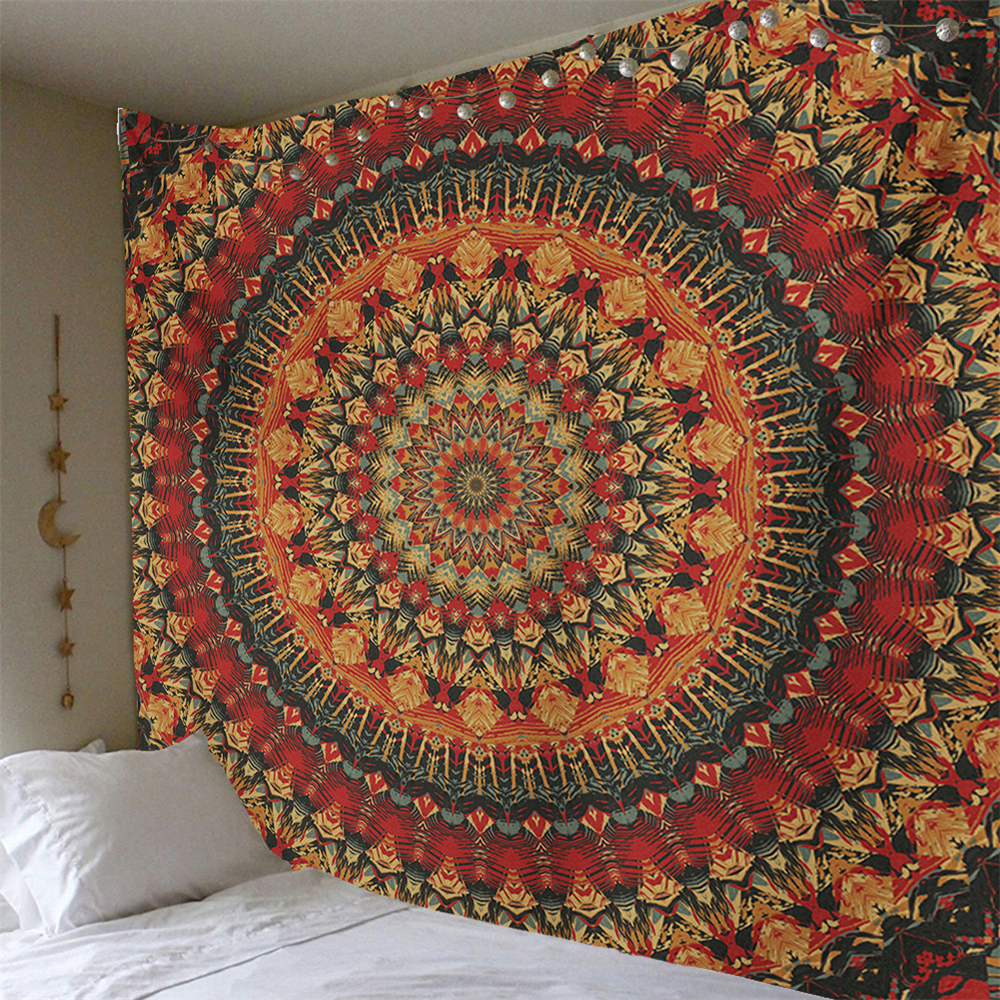 Mandala India Style Tapestry Wall Hangings Polyestry Covers Hippie Wall Cloth Tapestry Boho Beach Towel Art Bedroom Decor Carpet(China)