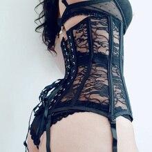 בגד גוף  חגורת הרזיה  מחוך steampunk Bustier מחוך סקסי הלבשה תחתונה בגדים גותי נשים בורלסק מחוך מותניים מחוך מותניים מאמן מעצבי נשים