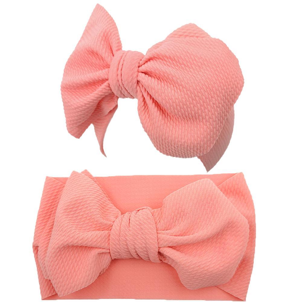 10 шт./лот, повязка на голову с большим бантом для девочек, широкая нейлоновая повязка в рубчик, повязка на голову для новорожденных, повязка на голову для малышей, Детские аксессуары для волос 4