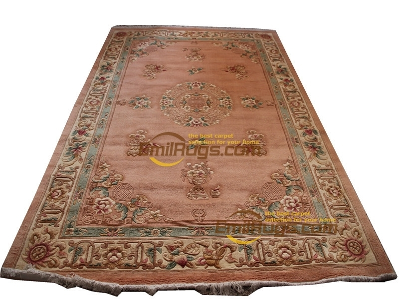 Chinese Wool Carpets Wool French Carpet  About  Hand-knotted Thick Plush Savonnerie Rug   6' X 9'