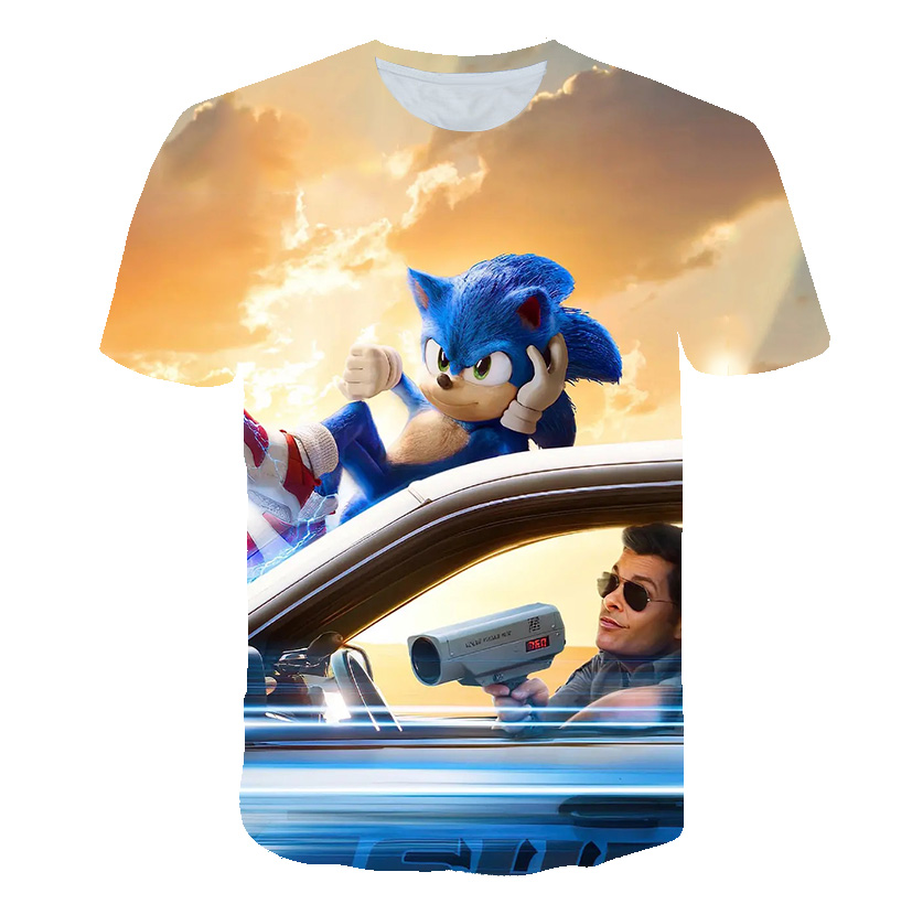 Popular Sonic The Hedgehog 3D T-shirts Baby Boys Girl High Quality Gift For Child Sonic Mario Kids Clothes Boys Clothes Camiseta