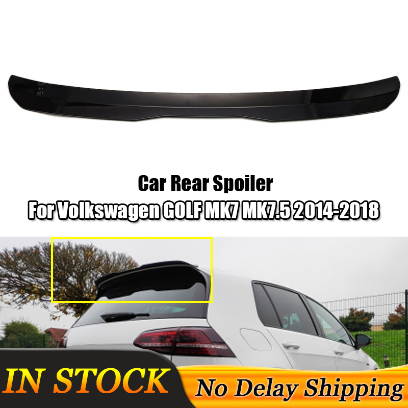 High Quality ABS Material Car Rear Wing <font><b>Spoiler</b></font> For <font><b>Volkswagen</b></font> <font><b>GOLF</b></font> <font><b>MK7</b></font> <font><b>MK7</b></font>.5 <font><b>Spoiler</b></font> 2014-2018 <font><b>GOLF</b></font> 7 GOIF 7.5 Auto Accessories image
