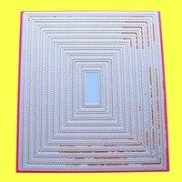 11 шт. большие резные штампы пирсинг прямоугольник 18x20,6 см скрапбук DIY карточная бумага крафт металлический трафарет
