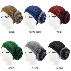 Image 5 - 2 màu mới lạ Sáng Lụa Lớn Nữ Mũ Đội Đầu Thanh Lịch Shinny Băng Đô Cài Tóc Turban Gọng Hồi Giáo Nón Quốc Gia Phong Cách Mũ Nón Cói Nữ Phụ Kiện Tóc