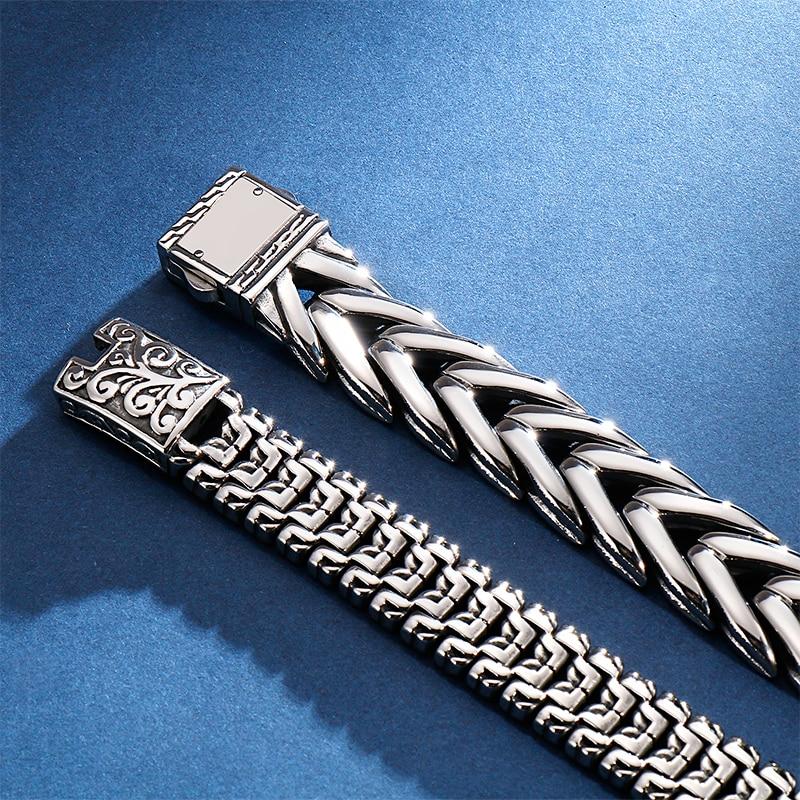 KALEN Punk High Polished Arrow Shaped Bracelet Men 22cm Stainless Steel Bike Chain Bilezik Boho Male Jewellry Accessories 2019