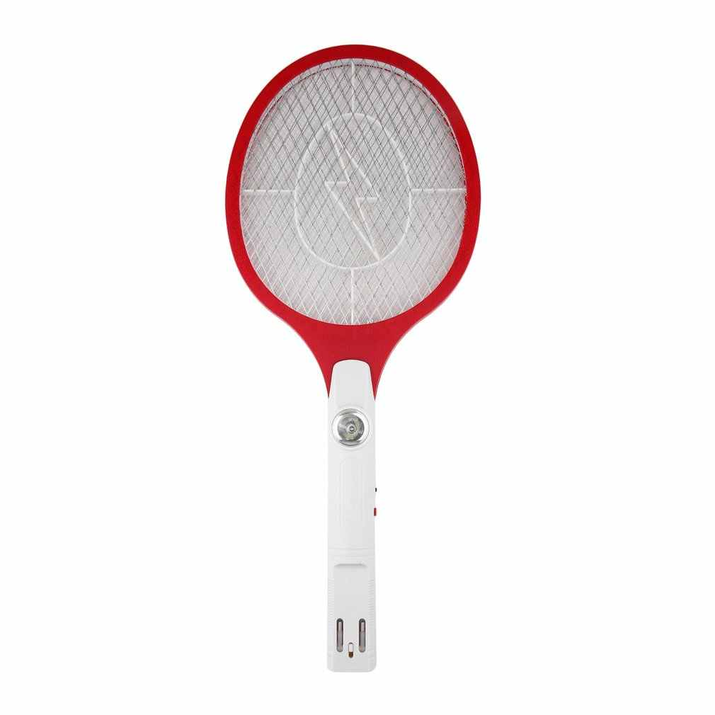 1pcs Quality Rechargeable LED Electric Insect Bug Fly Mosquito Zapper Swatter Killer Racket 3-layer Net Safe Hot Sale Drop Ship
