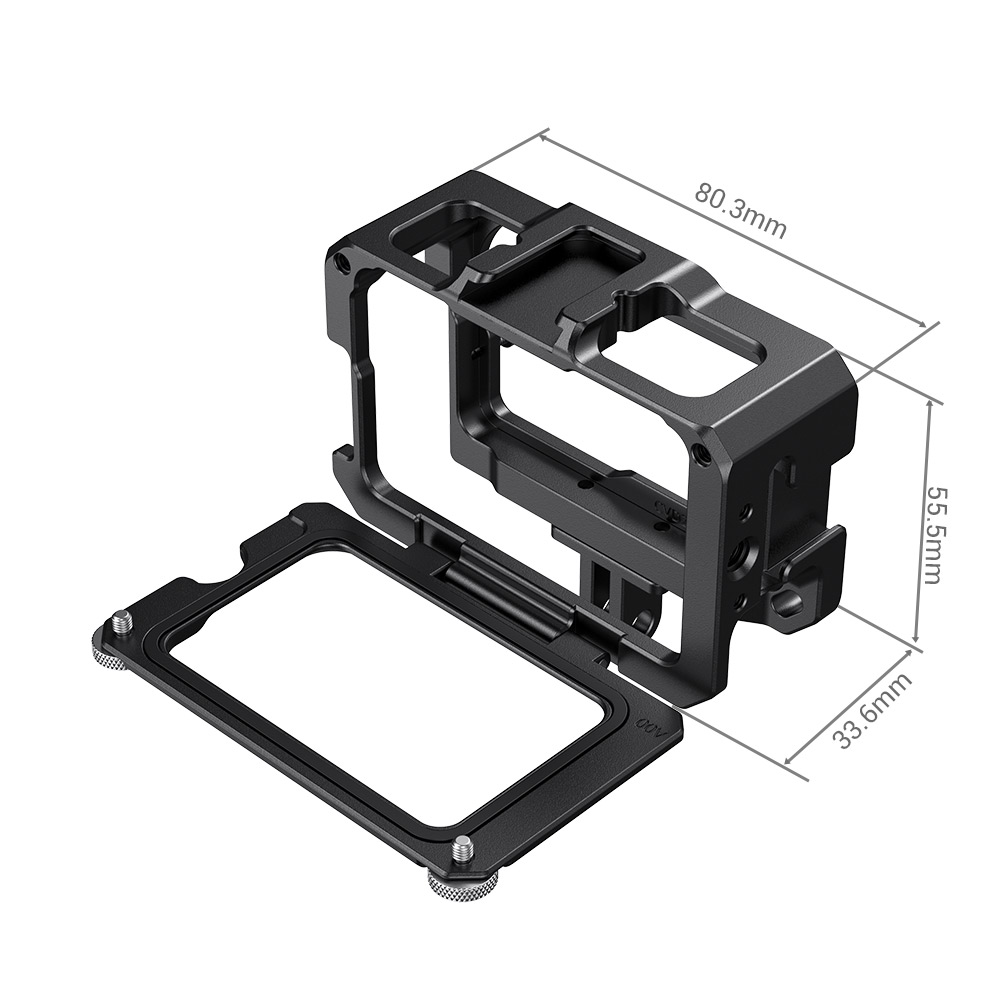 SmallRig OSMO Vlogging Video Cage for DJI Osmo Action (Compatible with Microphone Adapter) CVD2475