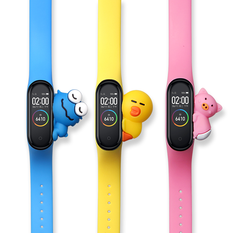 Mi Band 4 Strap Cartoon Bracelet For For Xiaomi Mi Band 3 Bracelet Silicone Miband 4/3 Wrist Strap Replacement Smart Accessories