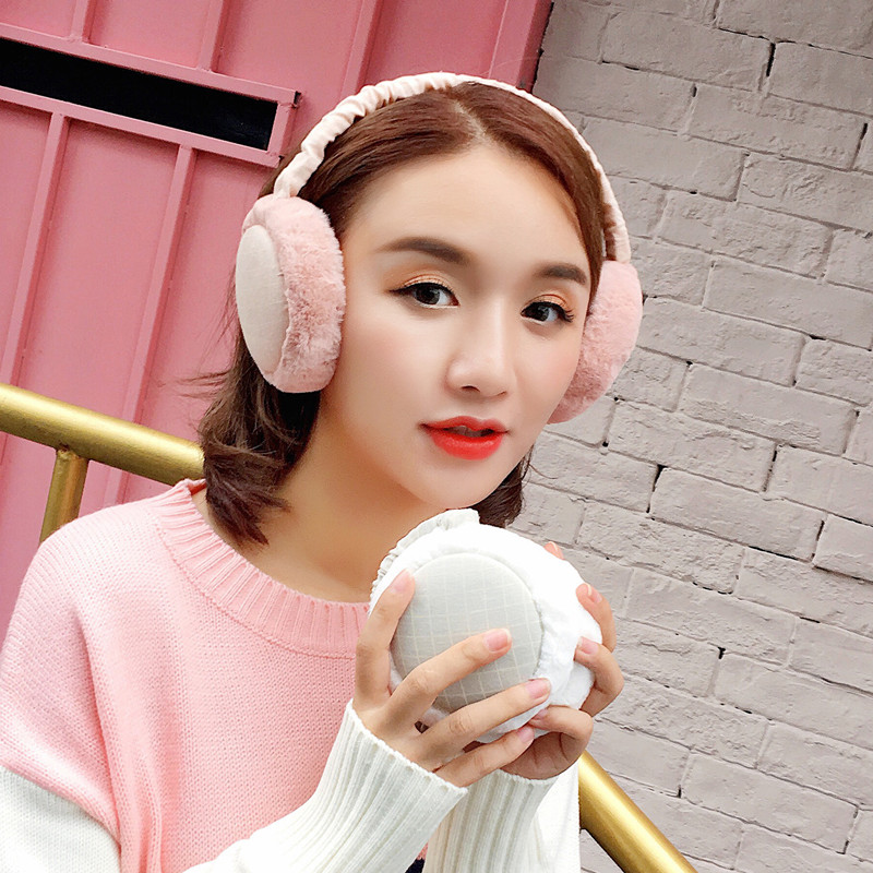 New Unisex Collapsible Fur Winter Earmuffs For Women Warm Earmuffs Ear Warmers Gifts For Girls Cover Ears Ear Muff AB338