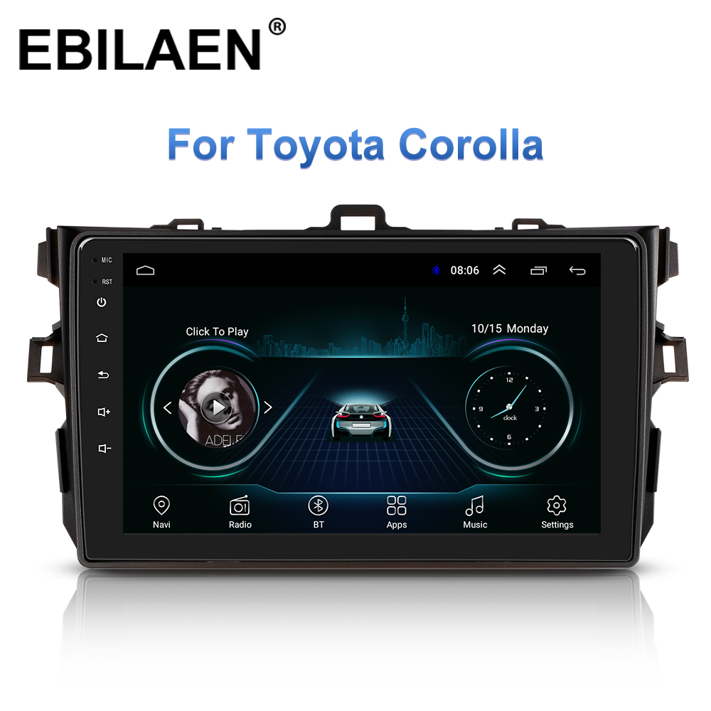 Car Multimedia Player For Toyota Corolla E140/150 2007-2016 <font><b>Autoradio</b></font> <font><b>2Din</b></font> <font><b>Android</b></font> 8.1 Car Auto Radio Navigation GPS Stereo image