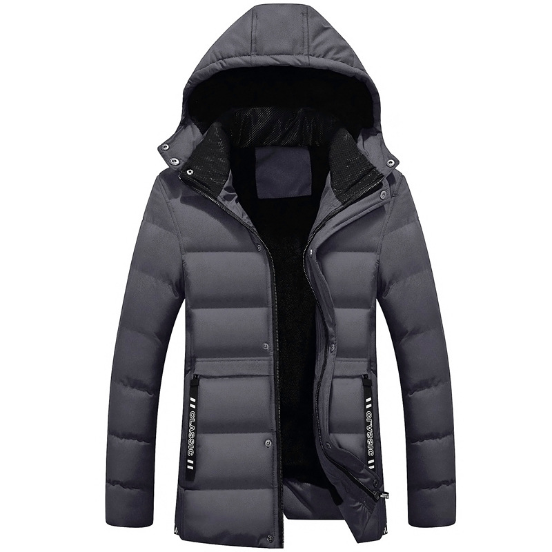 MEN'S Cotton-padded Coat Winter Coat New Style Korean-style Mid-length Down Jacket Cotton-padded Clothes Youth Men'S Wear