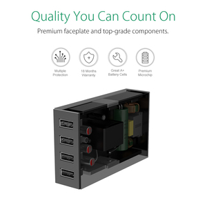 Image 4 - ORICO Desktop Charger Adapter USB 4 Port 5V2.4A Fast Charger EU Plug for Xiaomi Samsung Huawei