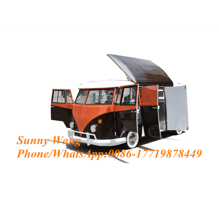 Low Price Concession High Quality BBQ Fast Food Cart Electric Hamburgers Food Truck Sales