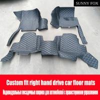 SUNNY FOX Right hand drive/RHD car car floor mats for Porsche SUV 911 Cayman Macan Panamera 6D car styling heavy duty carpet flo