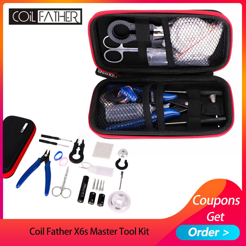 Coil Father X6s Master Tool Kit V3 12 Different Useful Vape Tool Kit/ VS Electronic Cigarette DIY Tool Kit 2 Colors Available