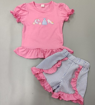 Baby Girl garnitur ubrania noworodka zestawy dziewczynek ubrania strój różowy lato wiosna maluch zestaw stroje dziecięce tanie i dobre opinie Moda O-neck Brak WM-3-7-7 WM-3-7-8 COTTON spandex Unisex Pełna REGULAR Pasuje prawda na wymiar weź swój normalny rozmiar