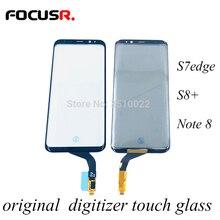 מקורי טלפון נייד לוח מגע חיישן מגע מסך חיצוני זכוכית החלפה עבור Samsung S7edge S8 + Note8 מסך