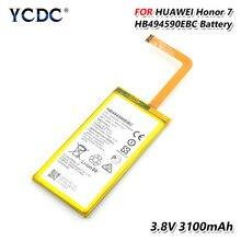 YCDC-Batería de iones de litio 100% para teléfono móvil, pila de 3100mAh, HB494590EBC para Huawei Honor 7 PLK-L01/UL00/AL10/TL01H