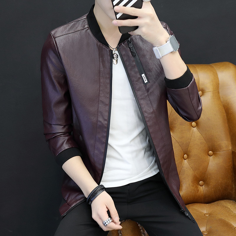 2019 Autumn And Winter New Style PU Leather Men Slim Fit Korean-style Youth Handsome Motorcycle Jacket Trend MEN'S Jacket