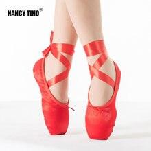 Нэнси tino балетки детей и взрослых розовый пуанты танцевальная
