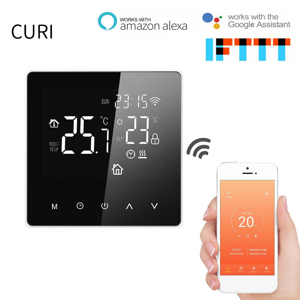 Programmable Wifi Digital  Thermostat 220v With HD LED Display Panel For Room Temperature Control Floor Heating Controller