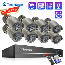 Techage H.265 8CH 1080P HDMI POE NVR Kit CCTV Security System 2.0MP IR Outdoor Audio Record IP Camera P2P Video Surveillance Set