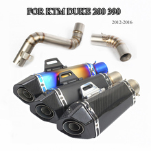 Slip On For KTM Duke 200 390 2012-2016 Motorcycle Exhaust Mid Link Pipe Connecting 51mm Muffler Tube With DB Killer
