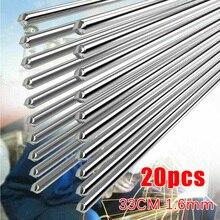 20 шт., алюминиевые сварочные прутки, низкотемпературные алюминиевые сварочные прутки для пайки, быстрая и легкая сварка алюминия