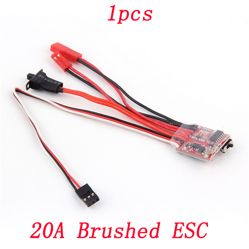 1pcs RC Jet Boats 20A Dual-way Brushed ESC w/ Brake DC 3V-9.4Vfor Model Climbing Cars Bidirectional Electronic Speed  Controller