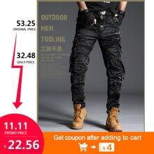 Cargo Nero Lavoro Pantaloni