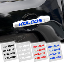 4 x стильные модные креативные наклейки на дверные ручки автомобиля, двухцветные дизайнерские наклейки, виниловые наклейки для Renault koleos
