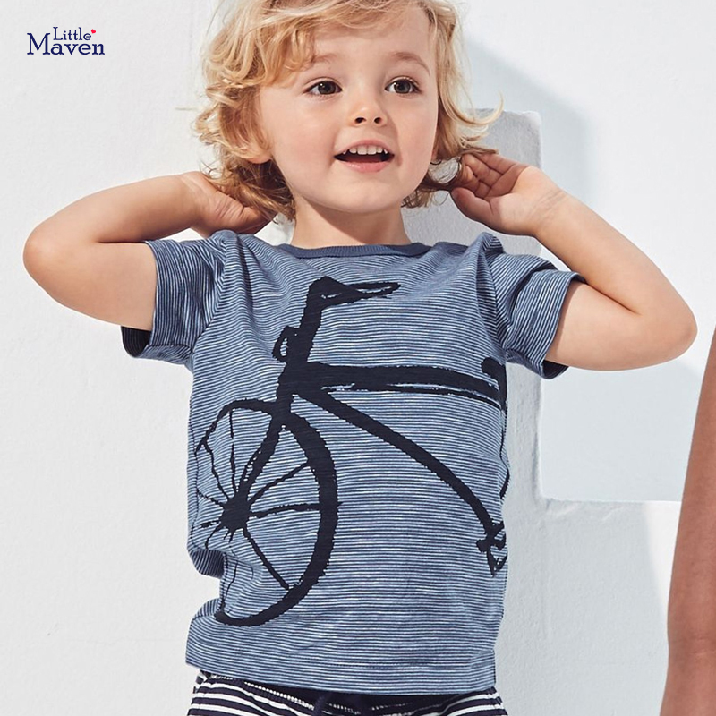 Little maven children 2021 summer new baby boys clothes animal print brand short sleeve t shirt boy tee tops 1