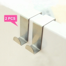 2 Pcs/lot Z Shaped Hooks Stainless Steel Hanger Clasp Rack For Clothes Pot Pan Kitchen Hooks Clasp Holder A0006 clear s shape kitchen hanger clothes hooks clasp holder plastic hanging hooks
