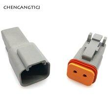 цена на 1 set/pcs 2 Pin/way Auto Male Female Electrical Wire Connector Plug Deutsch DT06-2S Enhanced Seal Waterproof Plastic Socket