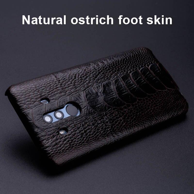 Чехол для телефона из страусиной кожи для huawei mate 20 10 9 Pro P10 P20 Lite, мягкий ТПУ чехол для Honor 8X Max 9 10 Nova 3 3i Capa - 2