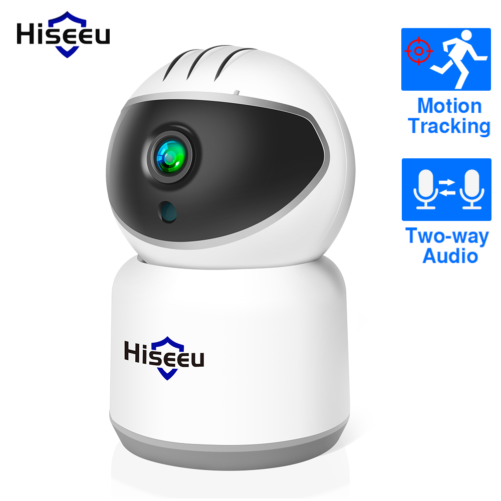 Hiseeu 1080P Wireless IP Camera WIFI 2MP 3MP Ultral HD CCTV Camera Mini Network Video Surveillance Auto Tracking Camera 1536P