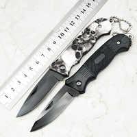 Black Folding Blade Knife Camping Hunting Tactical Survival Knives Aluminum Handle Outdoor Pocket EDC Tools Gift Multifunction