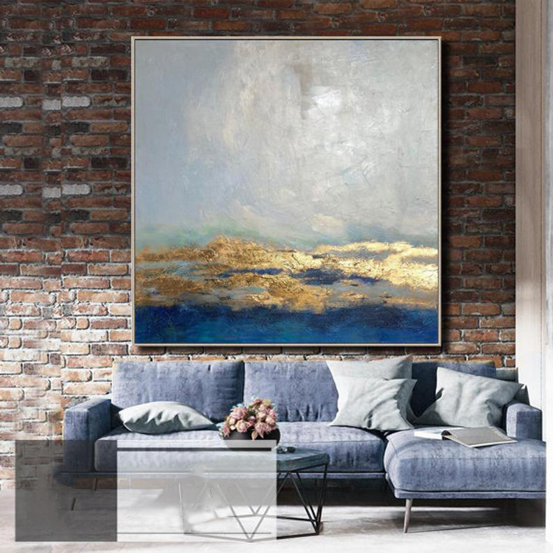 Extra Large Canvas Painting Oil Painting Golden Leaf Oversized Art Extra Large Wall Art Large Abstract Painting For Living Room Painting Calligraphy Aliexpress