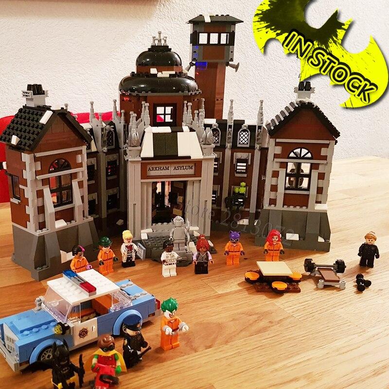 DC Movie Arkham Asylum In Stock 10741 1628Pcs Toys Compatible With 70912 07055 Super Heroes Series Building Blocks Bricks