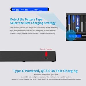 Image 2 - Xtar batery carregador vc8 vc4 vc4s carregador usb display para aaa aa li ion batteris 10400 26650 20700 21700 18650 carregador de bateria