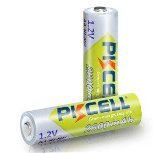 Image 4 - 10 قطعة PKCELL ni mh AA بطاريات 2300mAh 2600mAh 1.2V NiMh AA بطارية قابلة للشحن 2A Batteria خلية ل مشاعل كاميرا اللعب