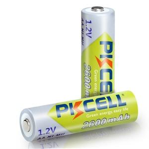 Image 4 - 10Pcs PKCELL Ni Mh AA Batterien 2300mAh 2600mAh 1,2 V NiMh AA Akku 2A Batteria Zelle für Taschenlampen Kamera Spielzeug