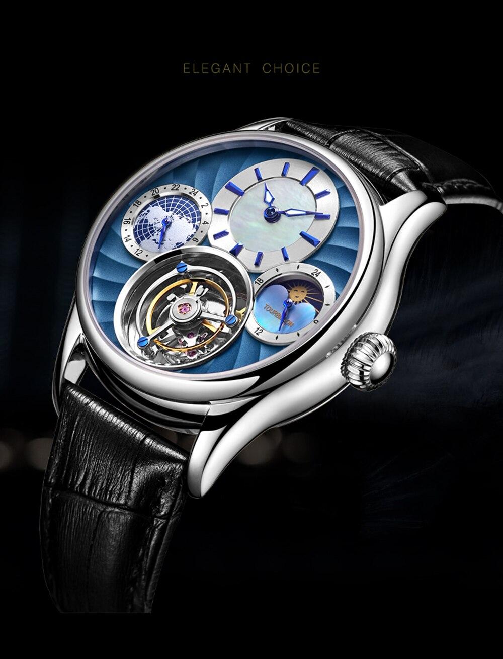 Original Tourbillon watch GUANQIN 2019 NEW clock men waterproof mechanical Sapphire leather top brand luxury Relogio Masculino 2