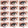 Комплект из 2 предметов, 1 пара цветные контактные линзы яркие глаз 3 оттенка, переходящие плавно от темного к светлому) Цветной контактные ли...
