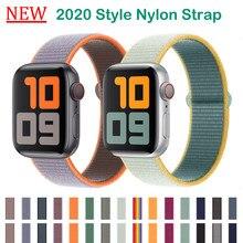 Novas correias de náilon para apple assistir série 6/se/5/4 42mm 44mm substituição pulseira para iwatch 3/2/1 38mm 40mm pulseira acessórios