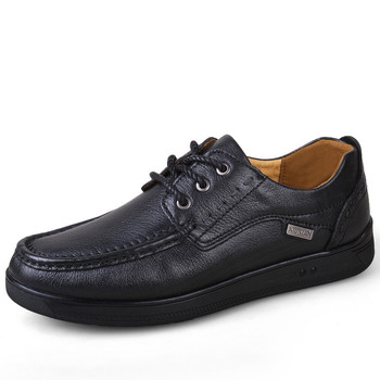 Autumn Genuine Leather Men Casual Shoes Breathable Lace-up Oxfords Dress Business Formal Wedding Party Big Size38-47 Flats *8893