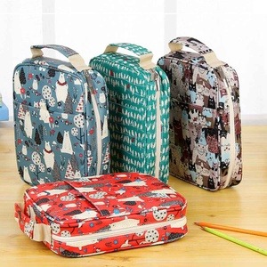 Image 3 - 150 Slots Cute Cartoon Animal Pencil Bag Large Capacity Pen Case Storage Students Box Drawing Painting Tool Pouch Art Supplies