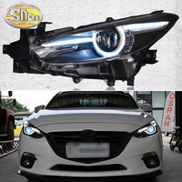 Car Styling LED Headlight Assembly For Mazda 3 2014 2018 Axela LED DRL Red Devil Eyes Light Head Lamp LED Projector Lens