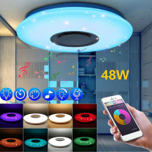 RGB Modern Led Ceiling Lights for Living Room Music Ceiling Lamp Remote&APP Control 24/48/60W Bluetooth Speaker Lighting Fixture yeelight smart led ceiling lamp indoor lighting modern led light fixture app remote control surface mounted for living room 50w